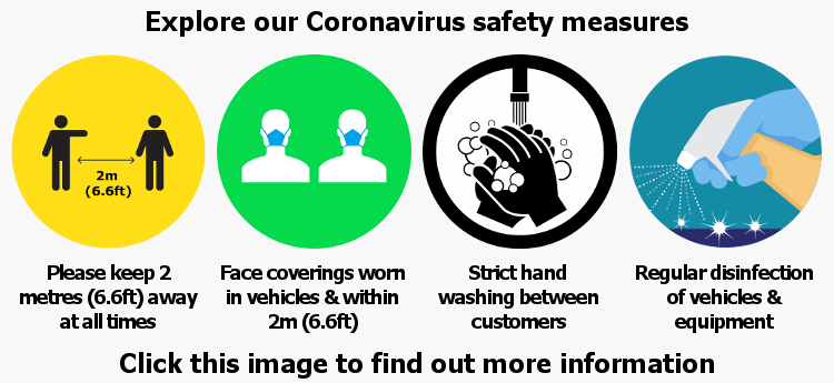 Explore our Coronavirus safety measures