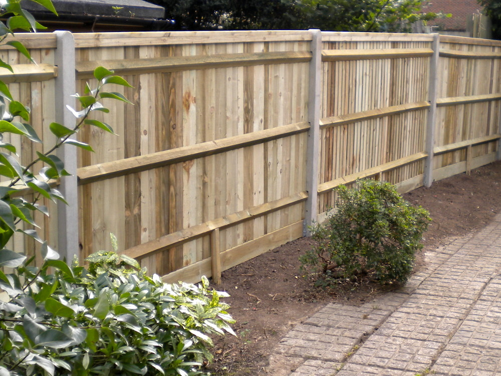 Closeboard Fencing With Concrete Posts Installed Kent