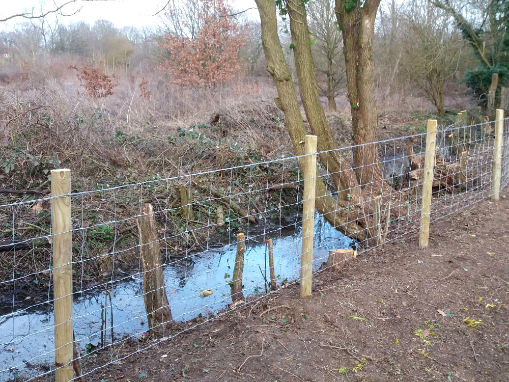 Wire Stock Fencing Installed Kent
