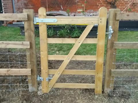 Timber Five Bar Gate Installed Kent